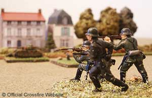Classic 1/76th Airfix plastic German Infantry - perfect for Crossfire.