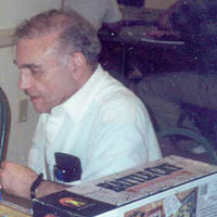 Wally Simon pictured at the 2003 Historicon convention.
