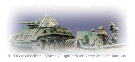 Soviet T-70 Light Tank & 7.62cm Anti-Tank Gun.