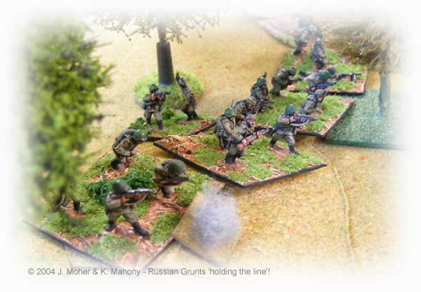 15mm Soviet Infantry from the collection of Kieran Mahony.