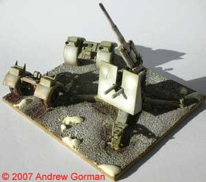 "(Airfix) ""88mm FlaK"" deployed for action!"