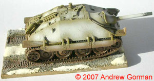 A closer side view of the Hetzer.