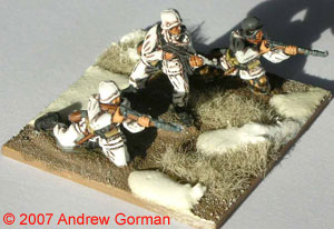 German Rifle Squad (Section) - the base is 40mm x 40mm.