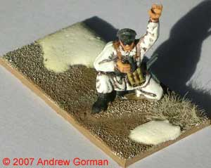 German PC (Platoon Commander) - the base is 20mm x 40mm.
